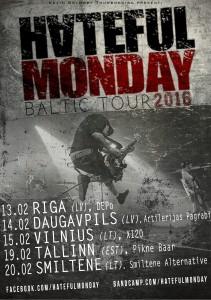 Hateful Monday tour 2016